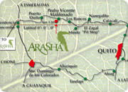 Quito resorts, Arasha Resort & Spa map