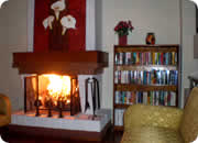 Hotels in Quito, Hotel Casa Quito fireplace