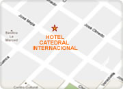 Quito hotels, Catedral Internacional Hotel map