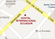 Hotels in Quito, Hostel International Ecuador map