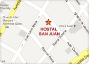 Hotels in Quito, Hotel San Juan map