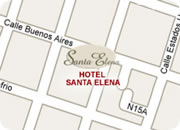 Quito hotels, Hotel Santa Elena map