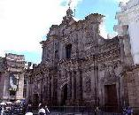 Facade of La Compania church in Quito Ecuador Pichincha
