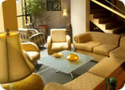 Quito hotels, Hotel Melrose Plaza Suites living